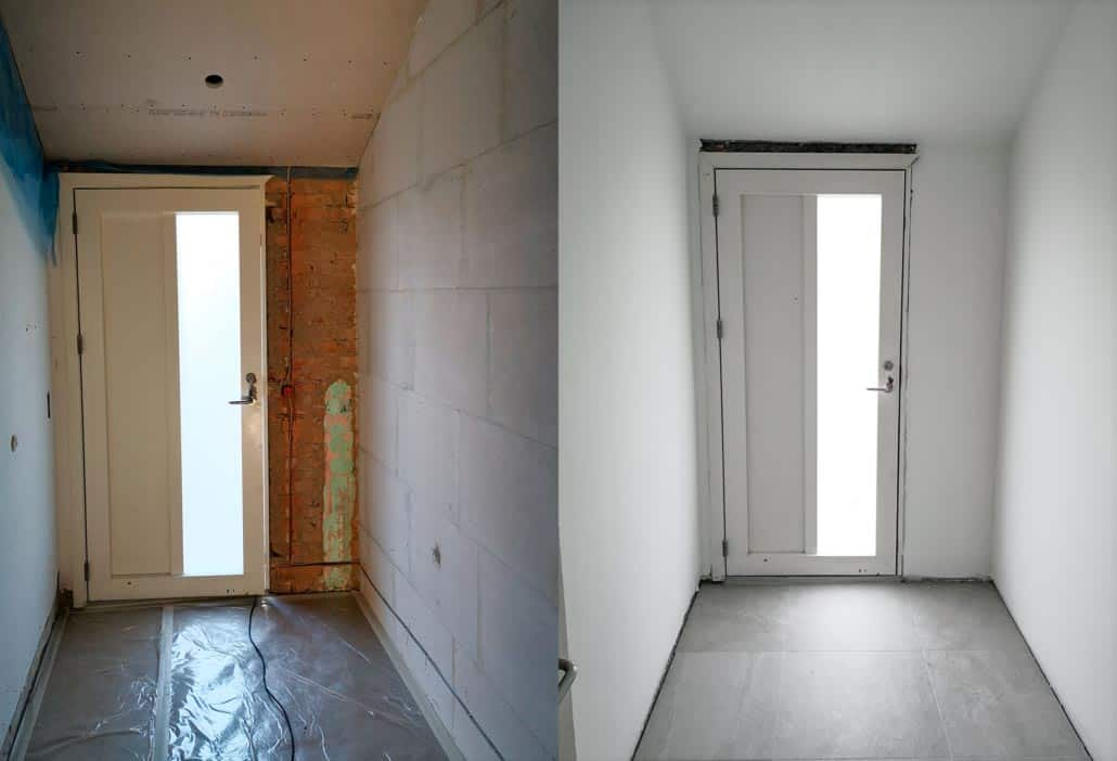 Før og efter malerarbejde